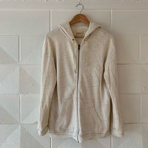 Wilfred Free Heather Cream Zip Up Hoodie